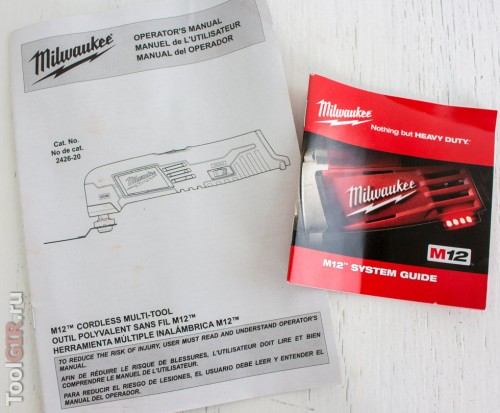 Мультирезак Milwaukee M12, инструкция и брошюра